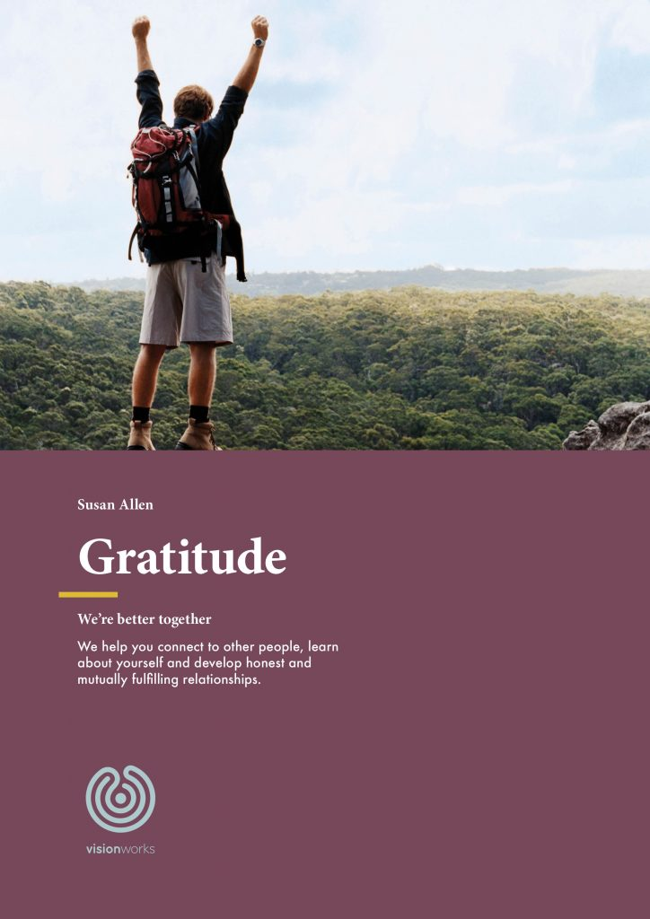 An image of the front of a document titled 'Gratitude'