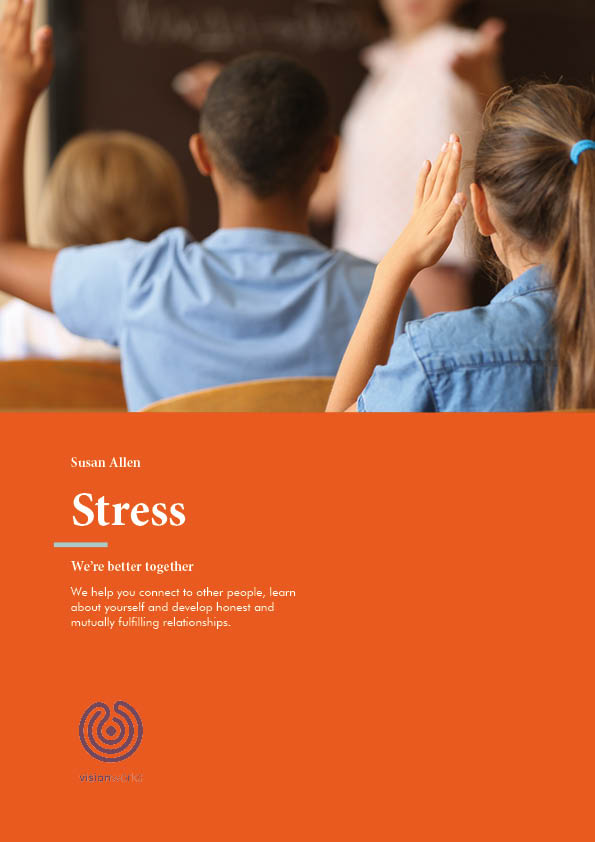 Front page of a free download about handling stress
